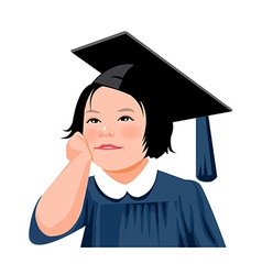 Portrait of girl vector image vector image