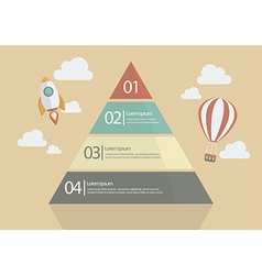 Pyramid chart infographic vector