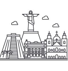 rio de janeirobrazil line icon sign vector image