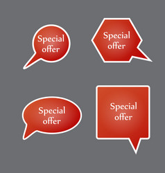 Special offer sign set sale symbol vector