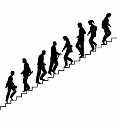 stair walkers vector image