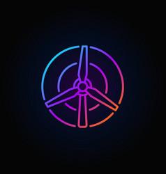 wind turbine colorful icon vector image vector image