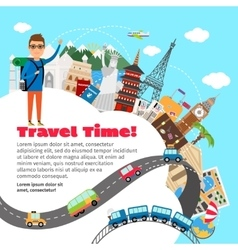 World travel and summer vacation planning vector image vector image
