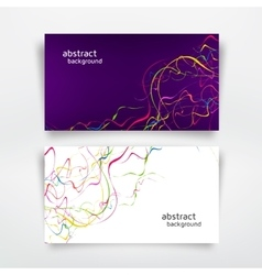 Abstract colorful lines vector
