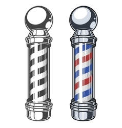 Classic barber shop pole vector
