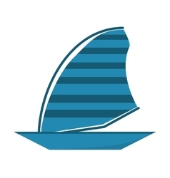 Blue sailing ship boat travel design vector