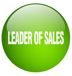 Leader of sales vector