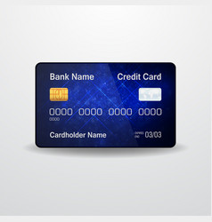 Detailed realistic credit card money payment vector