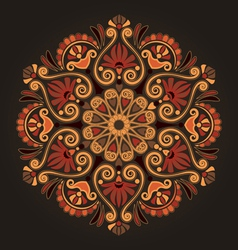 Radial geometric floral pattern vector