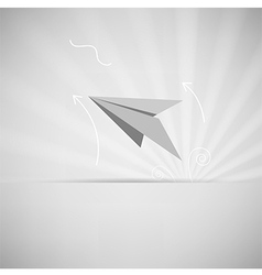 Eps10 paper aircraft vector