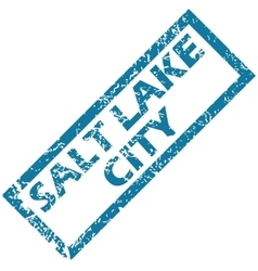 Salt lake city rubber stamp vector