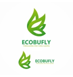Eco butterfly logo or icon vector