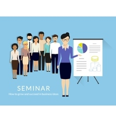 Business seminar vector