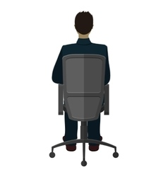 Man in chair vector