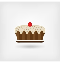 Pie baking icon vector