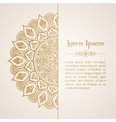 Elegant background with lace ornament vector