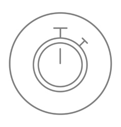 Stopwatch line icon vector image