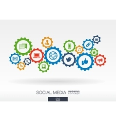 Social media mechanism concept abstract vector