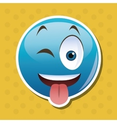 Flat of cartoon face design vector