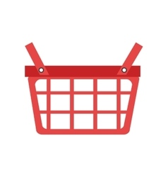 Red shopping basket graphic vector