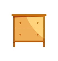 Wooden drawer chest icon cartoon style vector