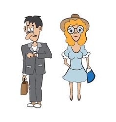 a guy and a girl on a date vector image