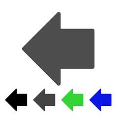Arrow left flat icon vector