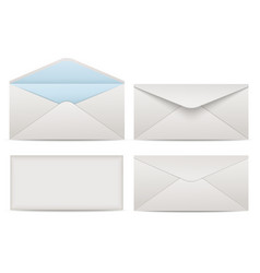 blank paper envelopes for your design vector image