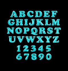 Blue alphabet foil party celebration balloons vector