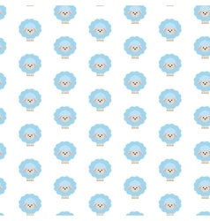 Blue sheep Pattern vector image vector image