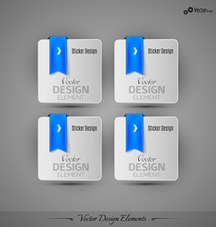 Business stickers on the gray background for vector image vector image