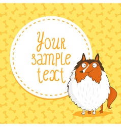 Card background with collie vector image vector image