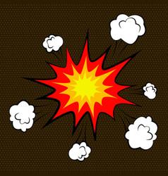 Cartoon comic empty bubbles labels and elements vector