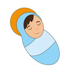 cute baby jesus cartoon vector image vector image
