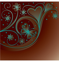 Decorative background with butterfly vector image vector image