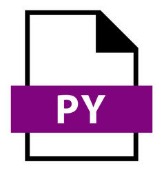 file name extension py type vector image