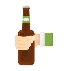 fresh beer bottle isolated icon vector image