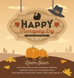 Happy thanksgiving card design vector