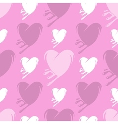 Melting hearts seamless pattern vector