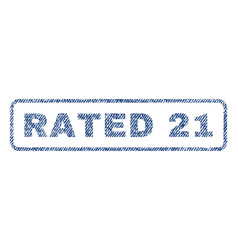 rated 21 textile stamp vector image vector image