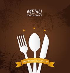 Restaurant Menu Premium Quality vector image vector image