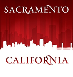 Sacramento California city skyline silhouette vector image