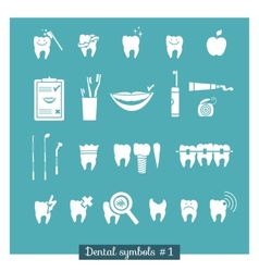 Set of dentistry symbols part 1 vector