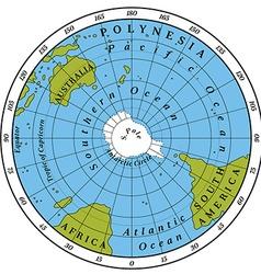 Southern hemisphere vector