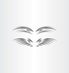 stylized black bird wings vector image vector image