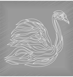 Vintage swan on background vector image