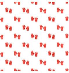 Winter gloves pattern vector