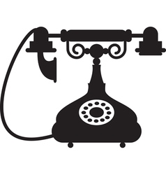 Antique telephone vector image