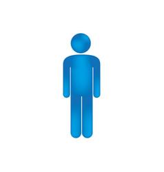 3d colorful pictogram man design vector image
