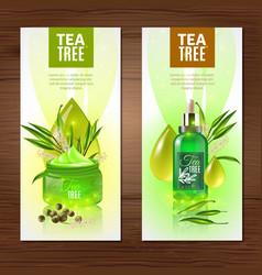 Tea tree vertical banners vector